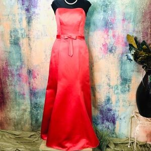 🧡Alfred Angelo Strapless awesome Evening Dress🧡